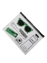 Mixed Print Clear Pouch