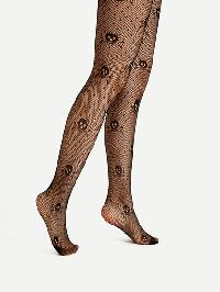Skeleton Pattern Tights