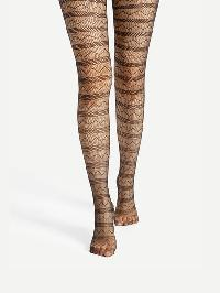 Chevron Pattern Tights