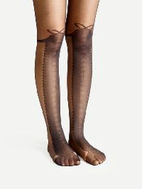 Graphic Pattern Tights