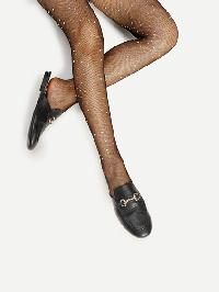 Rhinestone Embellished Tights