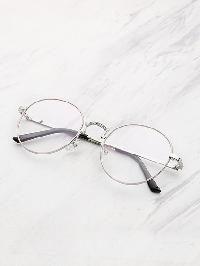 Metal Frame Clear Lens Round Glasses
