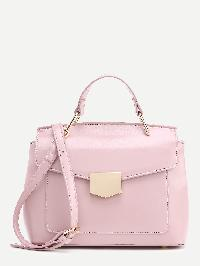 Metal Detail PU Shoulder Bag