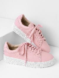 Lace Up Rubber Sole Low Top Sneakers