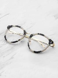 Marble Frame Clear Lens Glasses