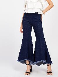 Raw Hem Bell-Bottoms Jeans