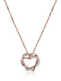 Rhinestone Heart Shaped Pendant Necklace