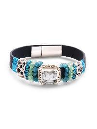 Crystal And Beads Embellished Bracelet