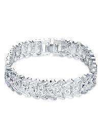 Geometric Design Plated Bracelet
