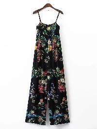 Cami Straps Floral Print Jumpsuit