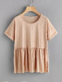 Rolled Sleeve Smock T-shirt