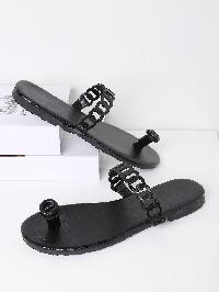 Cut Out Strap Toe Post Sandals