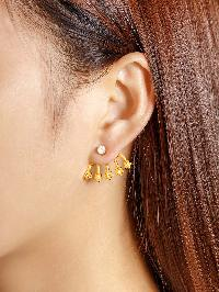 Rhinestone Star Design Stud Earring 1pcs