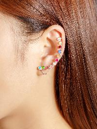 Rhinestone Design Ear Cuff 1pcs