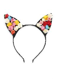 Flower Embellished Cute Ear Headband