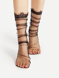 Eyelash Cuff Mesh Socks