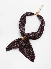 Chevron Pattern Neckerchief With Chain