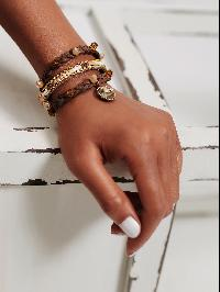 Crystal Embellished Woven Layered Bracelet