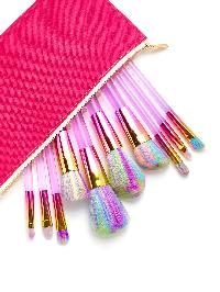 Pastel Makeup Brush 10pcs With Bag