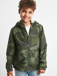 Gap Jersey Lined Windbuster - Green camo