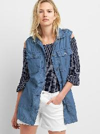 Gap Tencel Denim Utility Vest - Denim