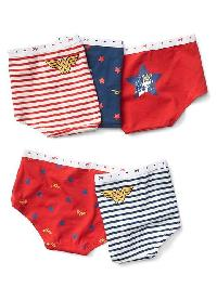 Gapkids &#124 Wonder Woman� Girl Shorts (5 Pack) - Multi