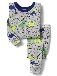 Gap Navy Dinosaur Sleep Set - Trek grey