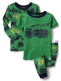 Gap Construction Truck Sleep Set (3 Pack) - Lime