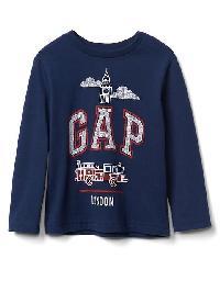 Gap City Logo Long Sleeve Tee - London
