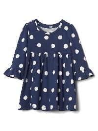 Gap Print Bell Sleeve Dress - Elysian blue
