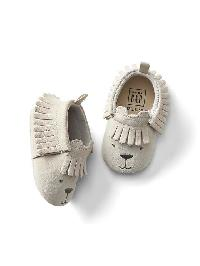 Gap Bear Fringe Moccasins - Grey splash
