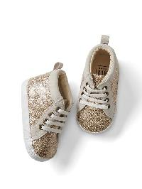 Gap Glitter Sneakers - Gold glitter