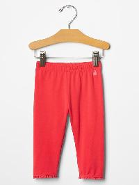 Gap Lace Trim Leggings - Hula red