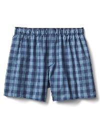 "Gap Check Plaid Boxers (4.5"") - Blue gingham"