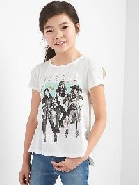 Gapkids &#124 Disney Descendants Cross Back Tee - New off white