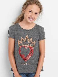 Gapkids &#124 Disney Descendants Cross Back Tee - Charcoal heather