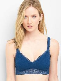 Gap Super Soft Lace Bralette - Royal teal