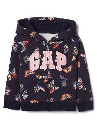 Gap Butterfly Logo Raglan Zip Hoodie - Butterfly wing