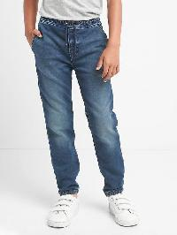 Gap Super Soft Denim Joggers - Medium wash