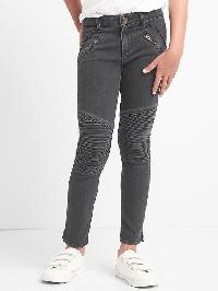 Gap High Stretch Moto Skimmer Jeggings - Washed black