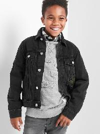 Gap Tiger Patch Denim Jacket - Black