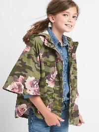 Gap Floral Camo Poncho - Camouflage