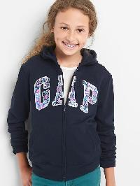 Gap Graphic Logo Zip Hoodie - Blue galaxy