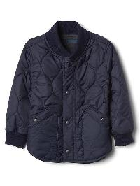 Gap Puffer Fleece Lined Jacket - True indigo