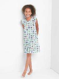 Gap Print Flutter Nightgown - Multi