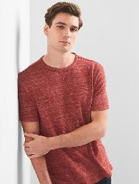 Gap Softspun Crewneck Tee - Red hawk