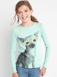 Gap Halloween Long Sleeve Tee - Fantasy aqua 074
