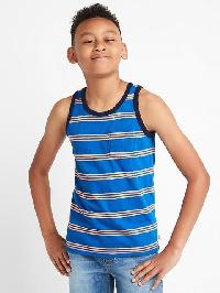 Gap Graphic Slub Tank - Blue streak