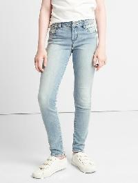 Gap High Stretch Supersoft Super Skinny Jeans - Light wash