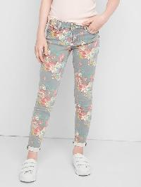 Gap High Stretch Floral Super Skinny Jeans - Floral print